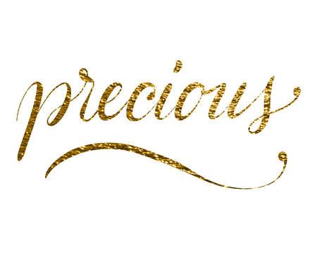 word precious written on white