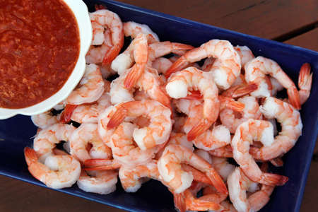 Classic shrimp cocktail Stock Photo - 13533575