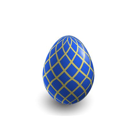 colored egg: Blue Easter egg