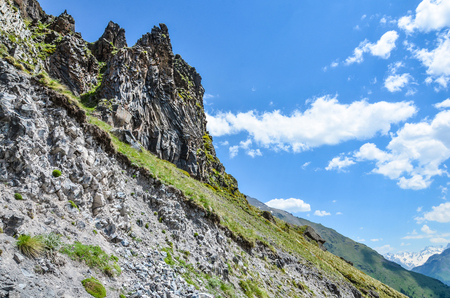 Mountain landscape. North Caucasian ridge, the district of the village of Terskol.