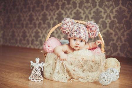 Cute newborn baby girl Reklamní fotografie