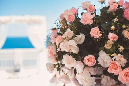 Wedding bouquet close-up photo