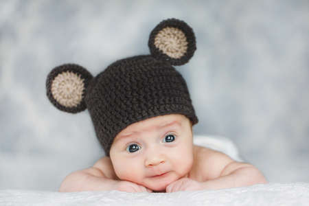 ... where to buy portrait of adorable cute newborn baby boy in knitted hat  stock photo 27495290 7cb12241cc69