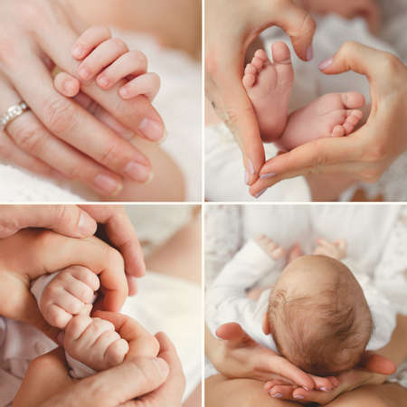mother: Close-up of baby\\\\ Stock Photo