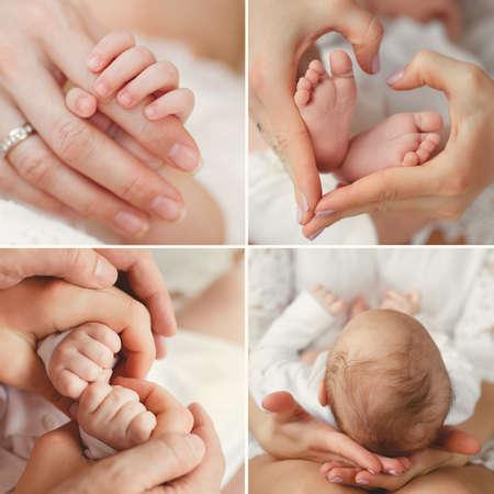 de la madre: Primer plano de beb� \ Foto de archivo