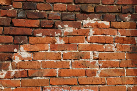 The old red brick wall texture background