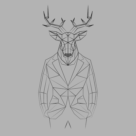 A deer with black lines Illustration