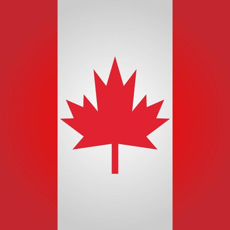 canadian flag: Square Canadian flag. Illustration