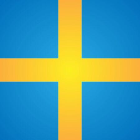sweden flag: Square Sweden flag.
