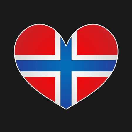 norway flag: heart with norway flag