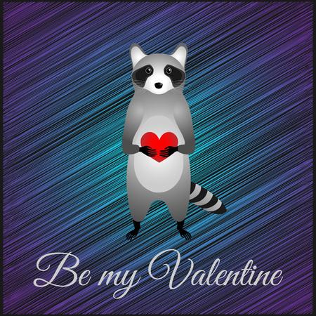 Valentines day greeting card. Blue scketch stripes .