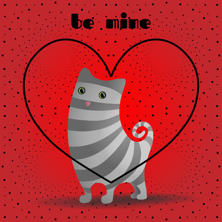 Cat with gray stripes.