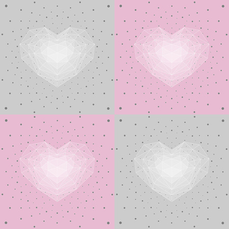 cristal: Cristal heart gift wrap.