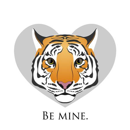 Tiger. Love tiger in heart.