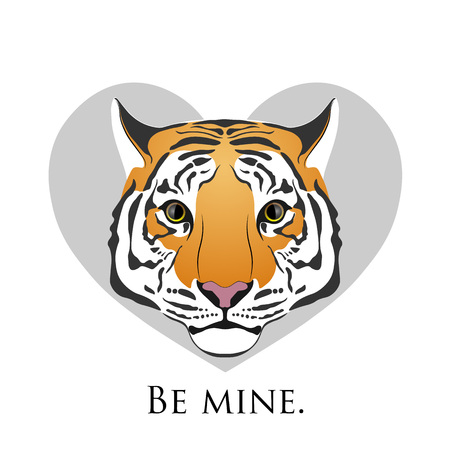 Tiger. Love tiger in heart.