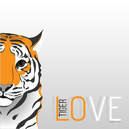 blushing: Blushing love tiger. Illustration