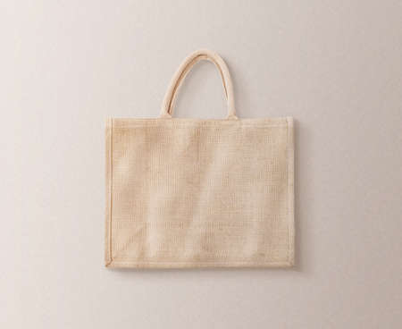 Blank brown cotton eco bag design mockup isolated Banco de Imagens