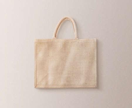 Blank brown cotton eco bag design mockup isolated Stockfoto
