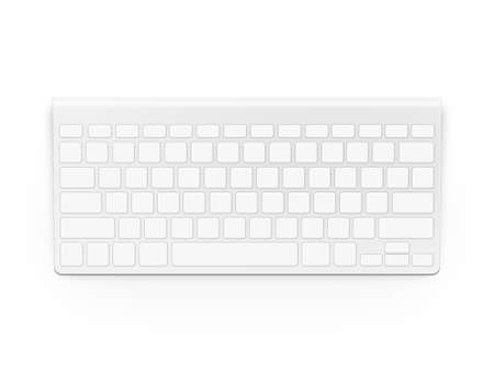 clavier: Blank white keyboard design mock up isolated.