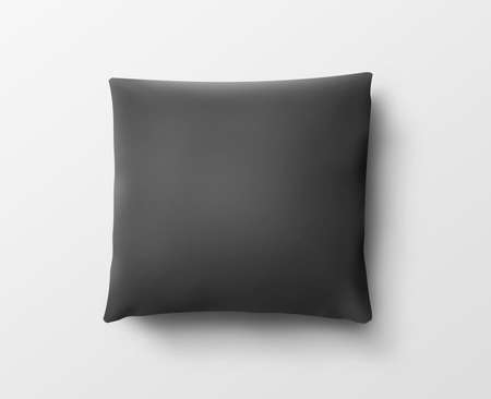 pillow case: Blank black pillow case design mockup, isolated
