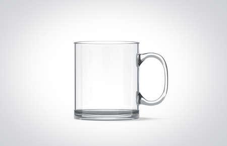 Gießen Von Wasser In Leere Transparente Glas Becher Mock-up Isoliert ...