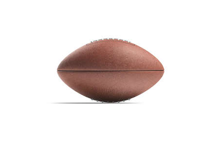 Blank brown american soccer ball mock up, side view Stock Photo