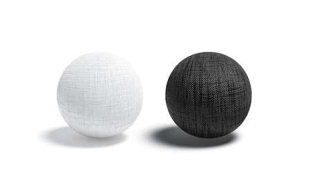 Blank canvas black and white ball mockup set