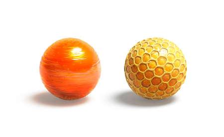 Blank caramel and honey ball mock up, isolated Imagens
