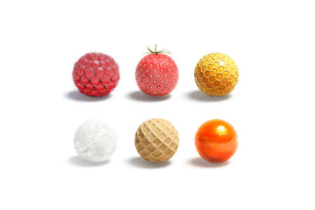 Blank candy ball mock up set, isolated