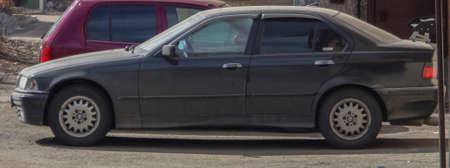Kazakhstan, Ust-Kamenogorsk, March 29, 2019: BMW E36 3-series. Compact executive car
