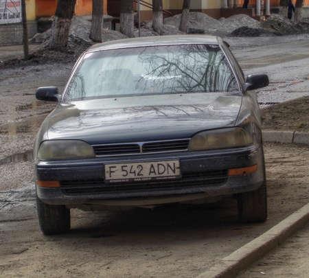 Kazakhstan, Ust-Kamenogorsk, March 29, 2019: Toyota Corona. Old japanese car 報道画像
