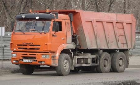 Kazakhstan, Ust-Kamenogorsk, April 3, 2019: Truck KamAZ-6520. Dump truck