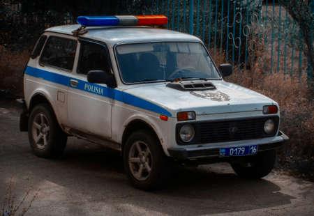 Kazakhstan, Ust-Kamenogorsk, September 1, 2019: Lada 21213 (Lada Niva). Police car