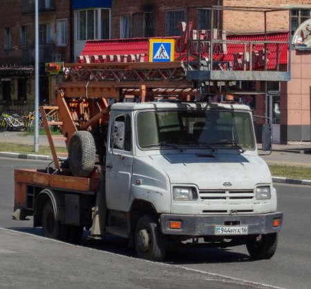 Kazakhstan, Ust-Kamenogorsk, july 4, 2019: ZIL 5301. Bucket truck