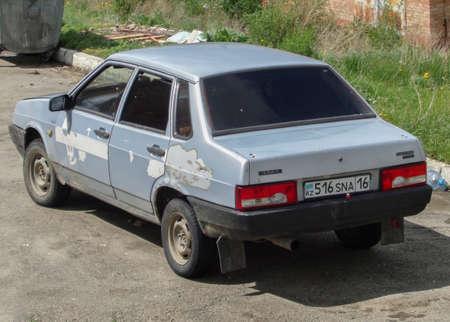 Kazakhstan, Ust-Kamenogorsk, may 23, 2019: Lada Samara (Vaz 21099, Lada Sputnik) Old russian car