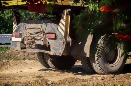 Back of the truck. Truck crane. Truck fragment. Lorry 写真素材