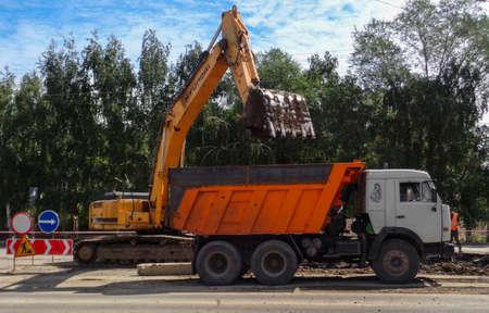 Kazakhstan, Ust-Kamenogorsk, august 13, 2017: Truck