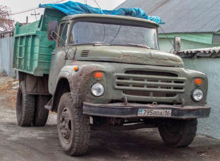Kazakhstan, Ust-Kamenogorsk, november 2, 2017: Old truck Zil 130