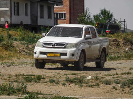 Kazakhstan, Ust-Kamenogorsk, july 8, 2018: Toyota Hilux is a series of light commercial vehicles produced and marketed by the Japanese manufacturer Toyota 報道画像