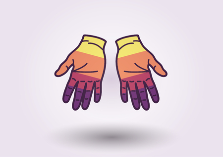 Colorful hands background