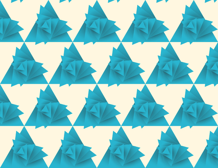 wrest: Seamless triangle pattern, whirlwind Illustration