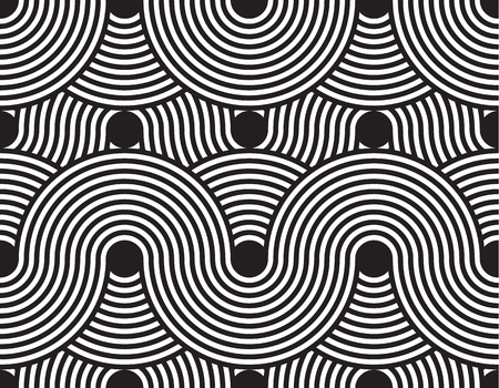 Vector seamless pattern. Modern stylish texture. Geometric striped ornament. Monochrome linear weaving. Illustration