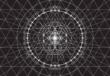 transmutation: Abstract geometry background, seamless pattern Illustration