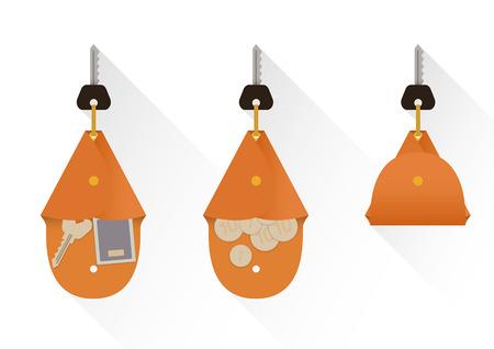wealth management: Case for keys, vector set Illustration