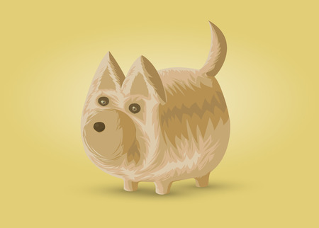 small dog: Small dog, vector illustration