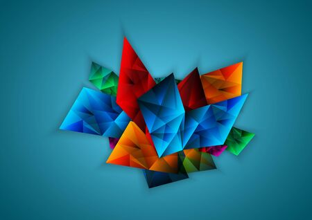 facet: Abstract colorful facet, vector