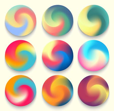 Colourful gradient orbs.