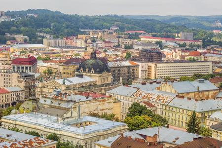 Old european city, vintage architecture