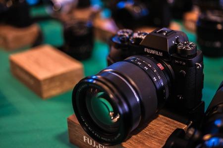 at Fujifilms stand on Rhoto Forum Barcelona, Spain