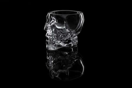 Glass crystal skull Stock Photo